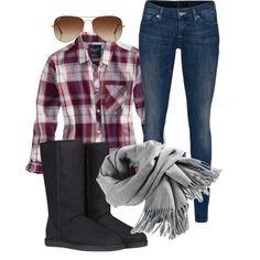 Plaid|Uggs|Skinny Jeans