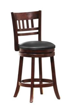 Homelegance 1140E-24S Swivel Counter Height Chair/Stool, Dark Cherry, http://www.amazon.com/dp/B008SA4LFO/ref=cm_sw_r_pi_awdm_787nxbB7K9BBE