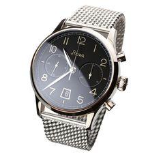 Stowa Chrono 1938 Stowa, Black Polish, Chronograph, Omega Watch, Smart Watch, Mens Fashion, Classic, Accessories, Wristwatches