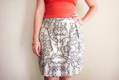 The 'Alice' skirt sits just around belly button height. It is a simple and flattering style, with small tucks that add interest. Dress it up with heels and a floaty shirt, or ballet flats for a casual weekend style. Available in sizes AU8-AU14. Limited stock!