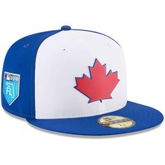 Toronto Blue Jays New Era 2018 Spring Training Collection Prolight Fitted Hat White Blue Jays Game, Mlb Spring Training, New Era Cap, Ml B, Toronto Blue Jays, Toronto Maple Leafs, Socks, Hats, Sports Teams