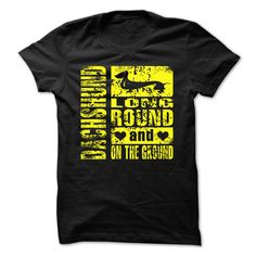 Dachshund Long, Round, On The Ground T-Shirts, Hoodies. SHOPPING NOW ==► https://www.sunfrog.com/Pets/Dachshund-Long-Round-On-The-Ground.html?41382
