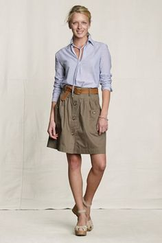 Love this whole outfit. Lands End- Skirt on sale for $24.99