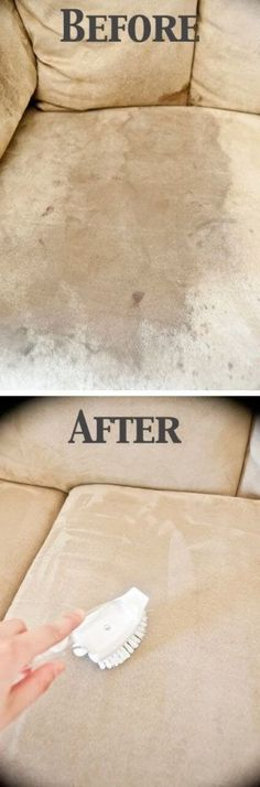 How To Clean A Microfiber Couch. Many people love cleaning cheats like this and this is one of the best. Discover How To Clean A Microfiber Couch with ONE Ingredient only Diy Cleaning Products, Cleaning Solutions, Cleaning Hacks, Sofa Cleaning, Speed Cleaning, Cleaning Suede, Furniture Cleaning, Micro Fiber Couch Cleaning, Cleaning Alcohol