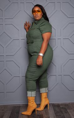 Plus Size Jumpsuit, Jumpsuit With Sleeves, Plus Size Maxi Dresses, Plus Size Outfits, Romper Outfit, Denim Outfit, Shirt Dress, Curvy Outfits, Stylish Outfits