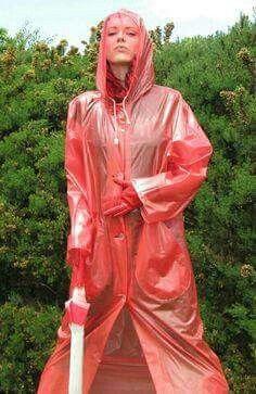 Raincoats For Women Rain Coats Vinyl Raincoat, Blue Raincoat, Plastic Raincoat, Plastic Pants, Hooded Raincoat, Imper Pvc, Rain Fashion, Latex Fashion, Women's Fashion
