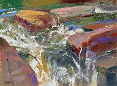 Handell demonstrates his approach to painting the energy of a mountain stream, beginning with a robust drawing and watercolor underpainting, followed by pastel.