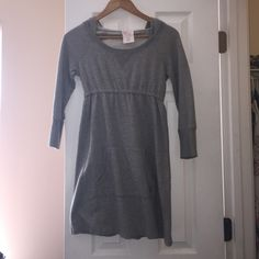 VS PINK Hooded Sweater Dress Grey VS hooded sweatshirt dress.  Super cute!  Worn a couple times. PINK Victoria's Secret Dresses