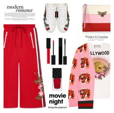 """""""Bring the popcorn"""" by jan31 ❤ liked on Polyvore featuring Gucci, Stephanie Rad and movieNight"""