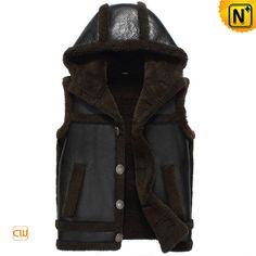www.cwmalls.com PayPal Available (Price: $1338.89) Email:sales@cwmalls.com; Sheepskin Shearling Vest for Men CW856169 Hooded sheepskin shearling vest for men, insulated western rancher style sheepskin shearling vest with hood and  cool skull pattern on the back!