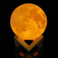 15cm 3D Magical Two Tone Moon Lamp USB Charging Luna LED Night Light Touch Sensor Gift