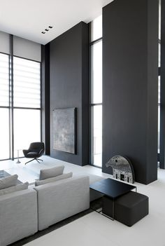 #architecture #design #interior design #style #minimalism #living room - Studio M-Index Penthouse