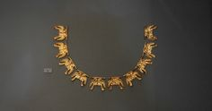 Gold necklace from Grave Circle A at Mycenae, Greece  Artifacts from Grave Circle A at Mycenae, c. 1600-1100 B.C.E.