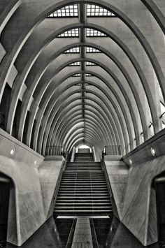 """Lesson # 302 : """" Every great architect is - necessarily - a great poet. He must be a great original interpreter of his time, his day, his age.""""Frank Lloyd Wright  Gare De Liege Guillemins © Michael Jacobs"""