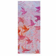 "Marianna Tankelevich ""Bird's Dream"" Lavendar Pink Luxe Rectangle Panel"