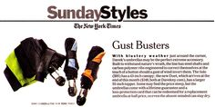 Davek in New York Times. May be the perfect extreme accessory
