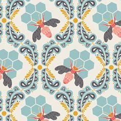 Designerstoffe USA - Sweet as Honey ::: Bee Sweet Morning - ein Designerstück von treuepfand-DIY bei DaWanda
