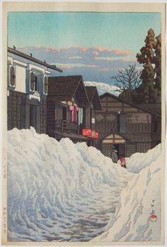 Kawase Hasui, Ojiya, Echigo, 1941