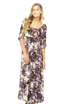 Pretty floral and paisley maxi dress. Loose, comfy and casual for everyday wear.