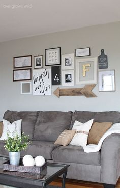 Find and save ideas about living room wall decor on Our Site. See more ideas about Living room wall decor, Living room wall art and Diy living room decor. Living Room Grey, Home And Living, Small Living, Modern Living, Grey Living Room Furniture, Cozy Living, Bedroom Furniture, Cute Living Room, Living Walls