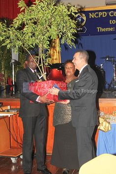 NCPD Presented a token of appreciation, a bearing fruit tree (Governor) to His Excellency Anthony Thomas Aquinas Carmona, O.R.T.T., S.C.