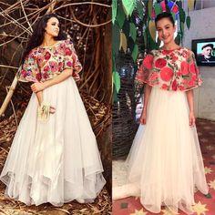 #koelabymrunalinirao #mrunalinirao #koela #hydeeabad Ethnic Fashion, Indian Fashion, Simple Gown Design, Mirror Work Kurti Design, Lehenga Crop Top, Diwali Outfits, Cape Gown, Simple Gowns, Lehenga Designs