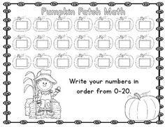 Pumpkin Patch Fall Themed Math Center Kindergarten Common