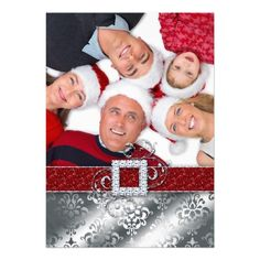 Christmas Card Photo Santa Belt Glitter