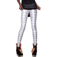 Lerela Women'S Stripe Funky Seamless Digital Print Footless Leggings -- Awesome products selected by Anna Churchill