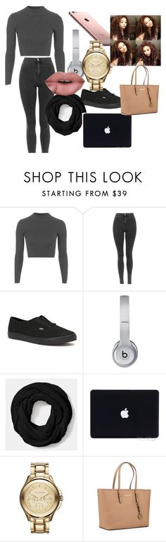 """""""study days"""" by adorably3vil on Polyvore featuring Topshop, Vans, Beats by Dr. Dre, Coach, Karl Lagerfeld and MICHAEL Michael Kors"""