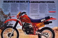 For this edition of Classic Steel we are going to take a look back at Honda's 250 Enduro entry for the all-new For this edition of Classic Steel we are going to take a look back at Womens Motorcycle Helmets, Enduro Motorcycle, Motocross Bikes, Vintage Motocross, Motorcycle Style, Motorcycle Girls, Honda Dirt Bike, Honda Bikes, Honda Motorcycles