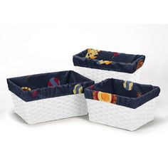 Sweet JoJo Designs Space Galaxy Collection Basket Liners