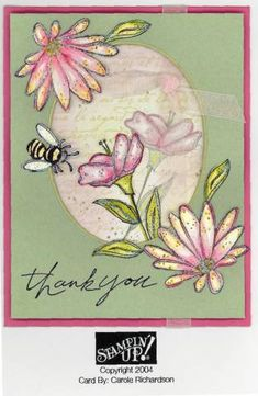Sweet Flowers using Stampin' Up! In Full Bloom