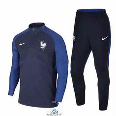 Official Le Nouveau Survetement de foot France Bleu Marine 2016 2017