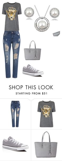"""Untitled #42"" by hanifasemic ❤ liked on Polyvore featuring moda, Juicy Couture, Converse e Michael Kors"