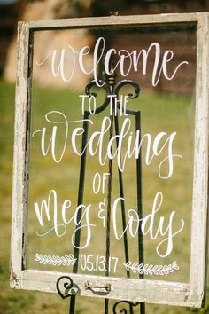 wedding signs Rustic wedding sign idea - calligraphy welcome sign {Brandy Angel Photography} Rustic Wedding Signs, Wedding Welcome Signs, Wedding Signage, Farm Wedding, Wedding Tips, Wedding Day, Wedding Backyard, Wedding Chalkboards, Wedding Reception Signs
