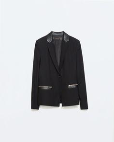 black wool blazer from zara