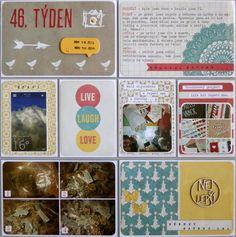 Project life 2014 - 46. týden (levá strana) Life Inspiration, Project Life, Frame, Projects, Picture Frame, Log Projects, Blue Prints, Frames