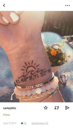 60 Ideen fr Ihr erstes Tattoo die 042 absolut einzigartig sind 60 ideas for your first tattoo which are absolutely unique 042 absolutely the unique first for Little Tattoos, Mini Tattoos, Trendy Tattoos, Unique Tattoos, Body Art Tattoos, Small Tattoos, Tattoos For Women, Tatoos, Wave Tattoos