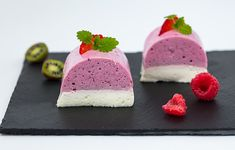 Panna Cotta, Recipe Database, Party Desserts, Yams, Yummy Food, Delicious Recipes, Raspberry, Deserts, Fruit