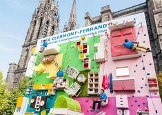 Vertikale Wohnung als Kletterwand - Ikea Promotion