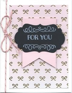 Chalk it Up to Love Paper Pumpkin - Regular sized card for my customers. Followed the kit directions, cut card in half and mounted on white. LOVE this twine...it's perfect. Wish we had more!