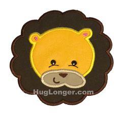 Applique Lion Face embroidery file HL1071 safari
