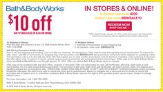 Free Printable Bath And Body Works Coupons Bath And Body Shop, The Body Shop, Free Printable Coupons, Free Printables, Bath Body Works Coupon, Bath And Bodyworks, 10 Off, Body Wash, Saving Money