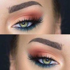 Beautiful eye makeup, gorgeous