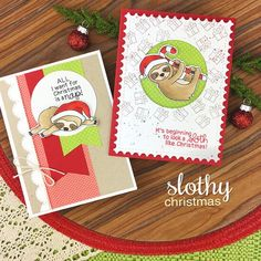 Newton's Nook - Clear Stamp - Slothy Christmas-Slow down this Holiday season with with the sloths in this adorable in stamp set! Christmas Sloth, Christmas Art, Christmas Nails, Christmas Stuff, Christmas Ideas, Diy And Crafts, Paper Crafts, Christmas Nail Designs, Cool Themes