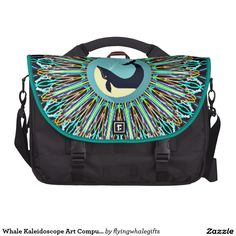 Whale Kaleidoscope Art Computer Bag
