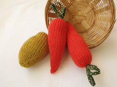 knit veggies