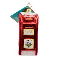 Radko POST HASTE 1012459 Ornament Mail Letter North Pole New