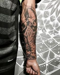 wrist covering wrist tattoo wrist tattoo template wrist realistic tattoo Ta Source by MruSleevetattoos Forarm Tattoos, Forearm Sleeve Tattoos, Dope Tattoos, Best Sleeve Tattoos, Tattoo Sleeve Designs, Trendy Tattoos, Mens Wrist Tattoos, Jesus Forearm Tattoo, Forearm Tattoos For Guys